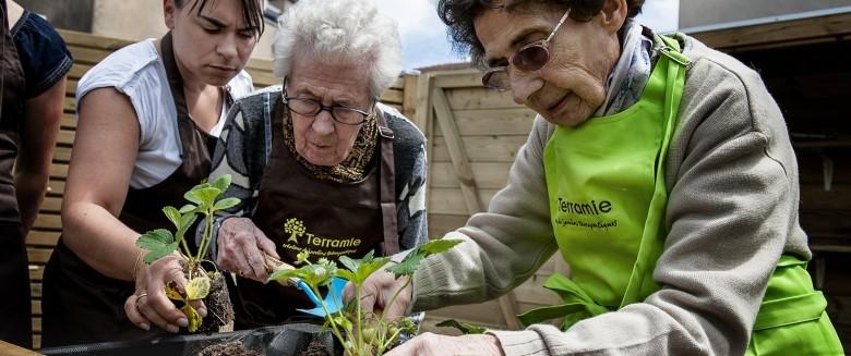 Maladie d'Alzheimer : les bienfaits des jardins de vie à visée thérapeutique