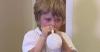 Enfants : souffler dans un ballon pour soigner l'otite moyenne avec effusion